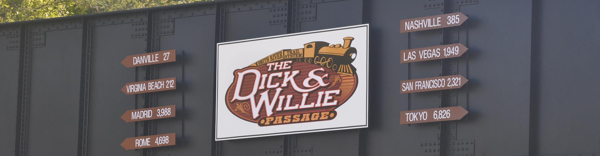 Dick and Willie Trail Sign